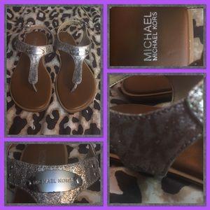 RARE!! Michael Kors Pixie Fine Logo Sandals.